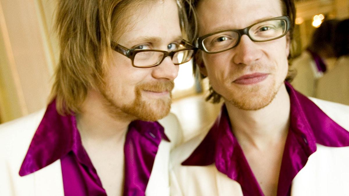 Anders Johansson och Måns Nilsson. Foto: Johan Ljungström/Sveriges Radio.
