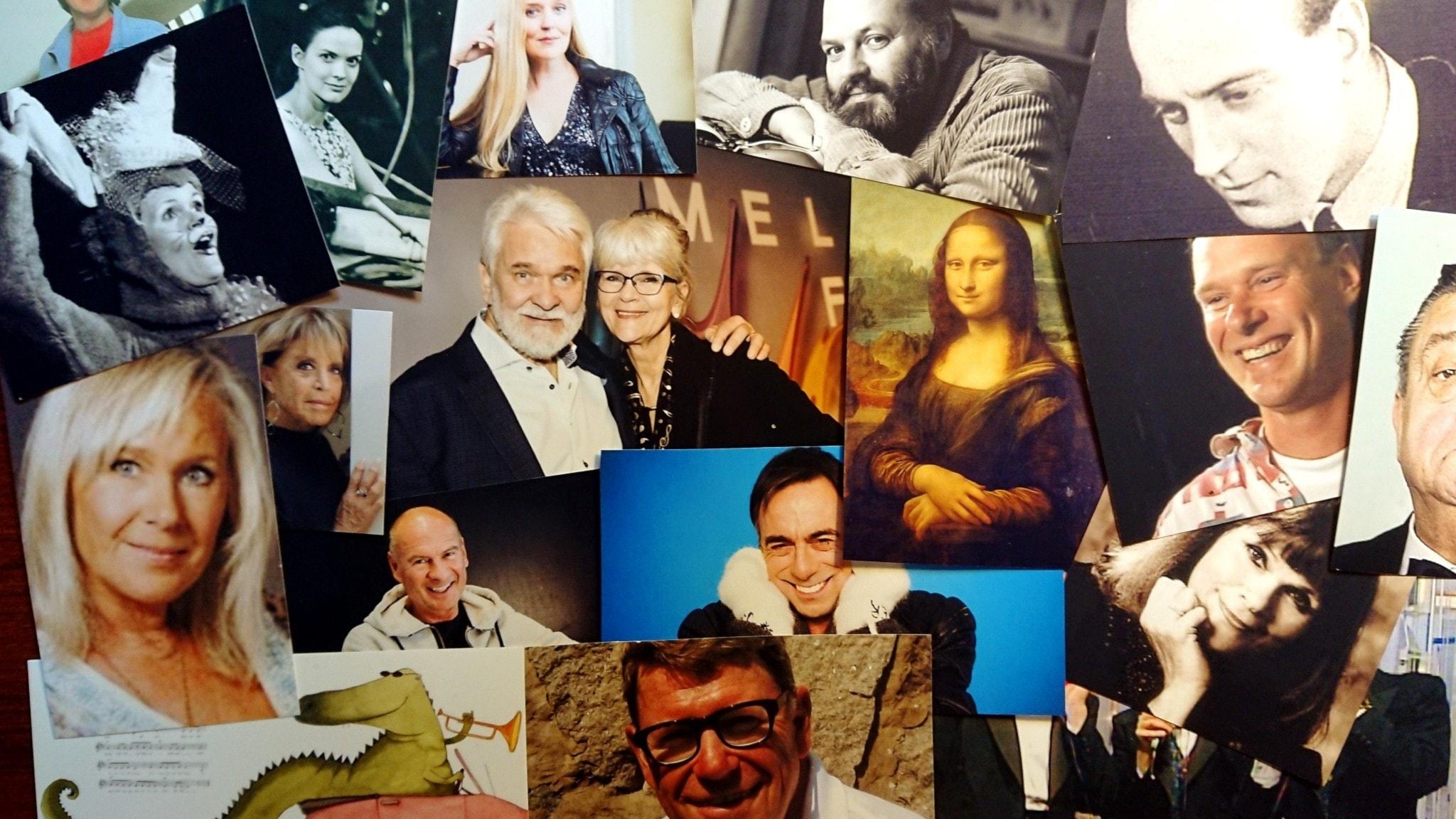 Bilden är ett collage av artister som nämns i programmet.