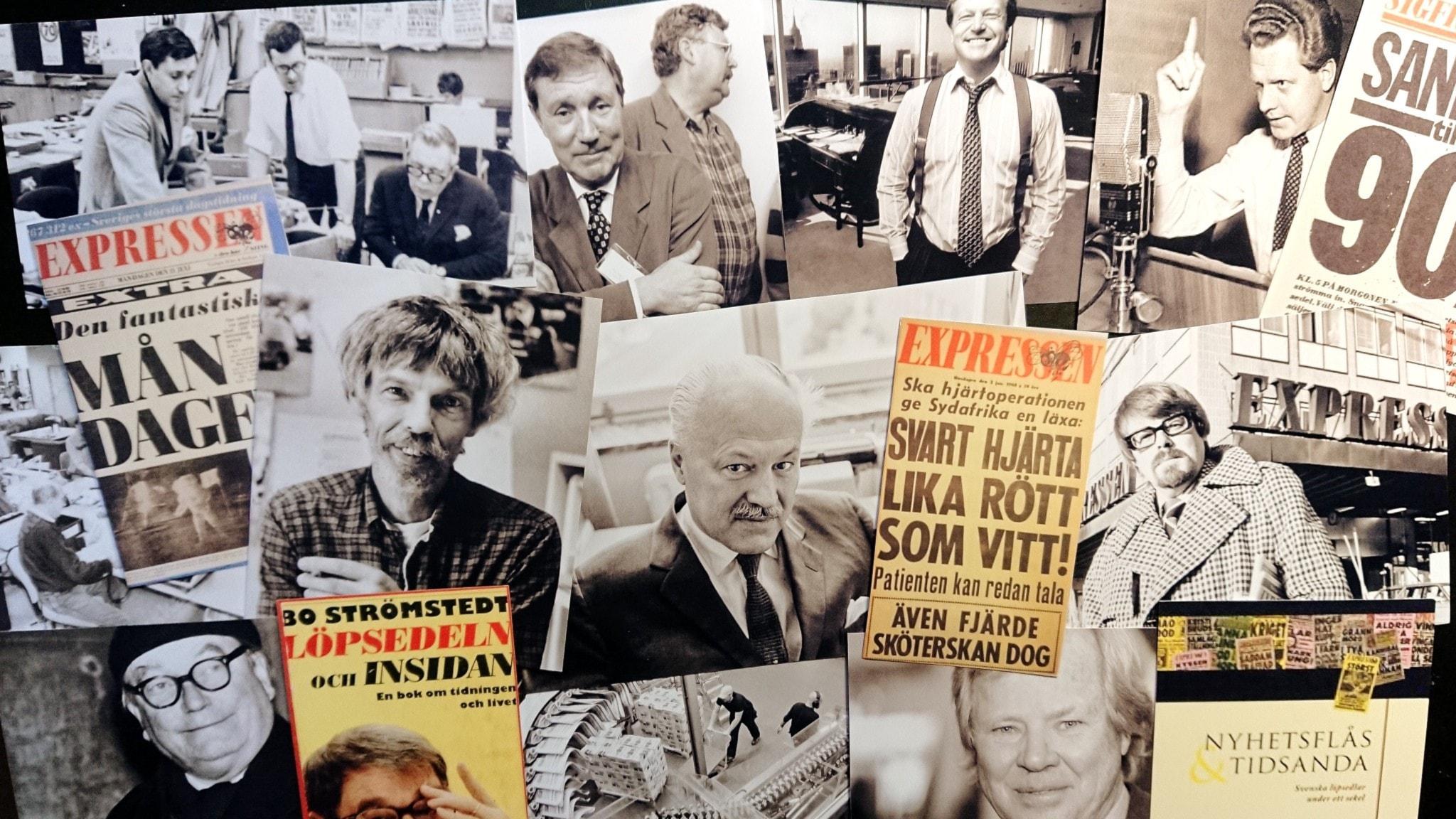 Bilden är ett collage av olika personer med koppling till Expressen.