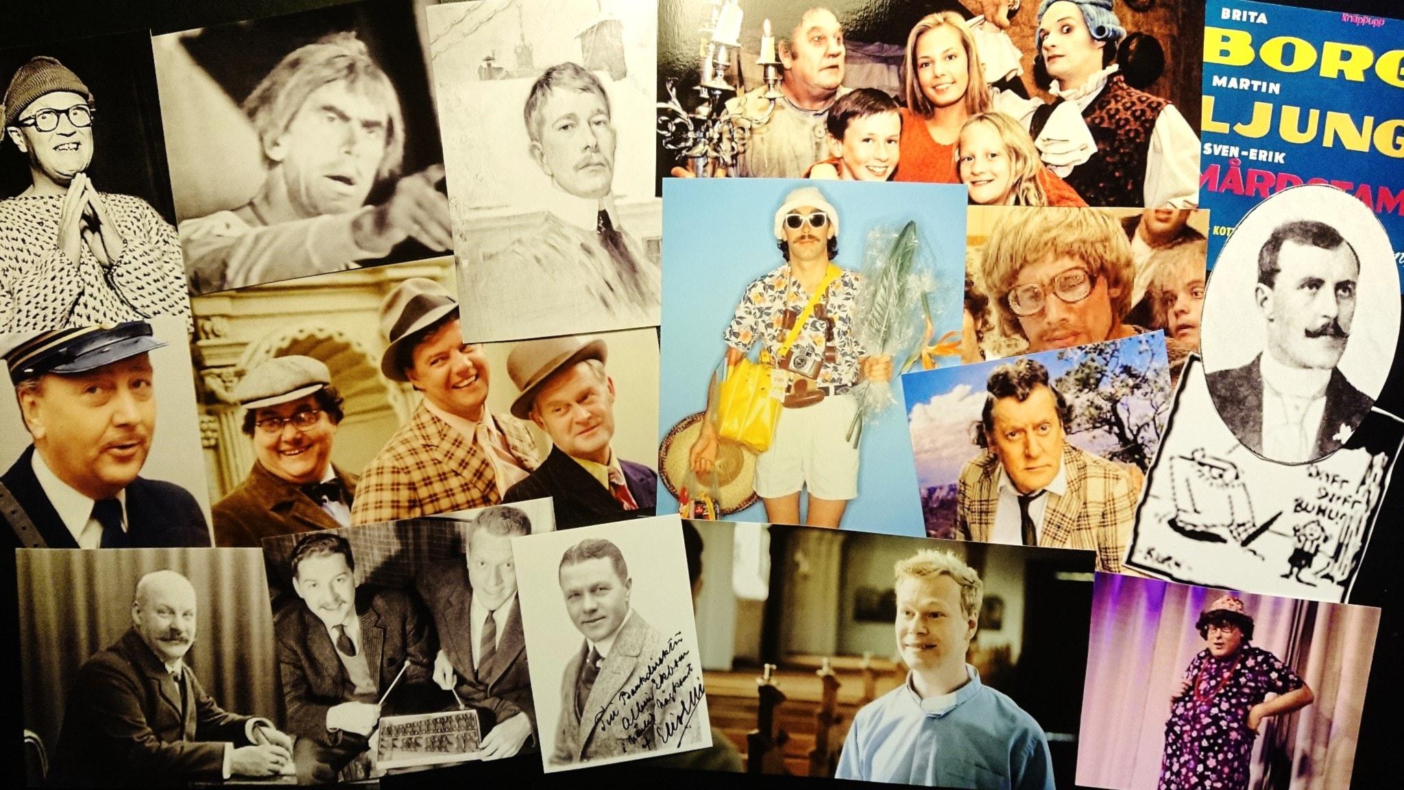 Bilden är ett collage av olika karaktärer som heter Olsson.