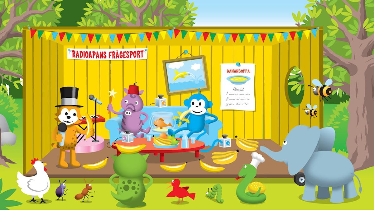 Radioapans frågesport del 17: Vad händer om man lägger en banan i vatten?
