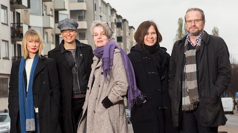Lisa Bergström, Jenny Teleman, Katarina Wikars, Cecilia Blomberg, Karsten Thurfjell. Foto: Mattias Ahlm/Sveriges Radio