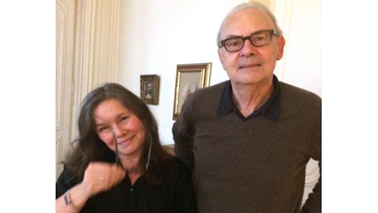 Anneli Dufva och Patrick Modiano. Foto: Dominique Zehrfuss