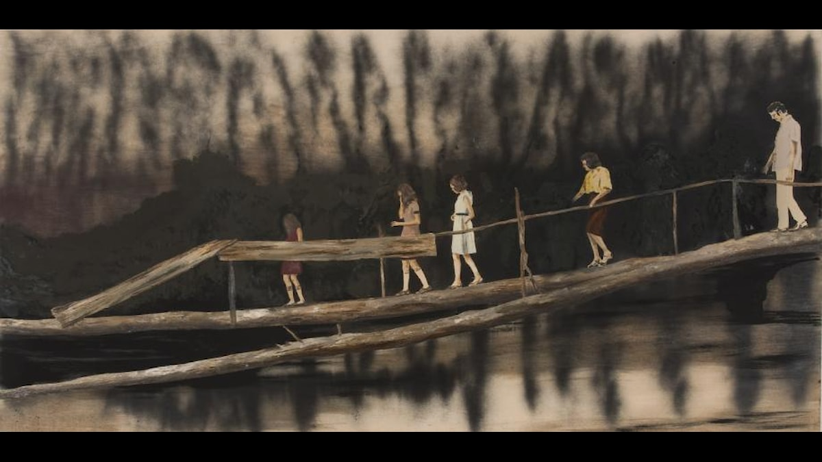 Ramble on, 2011. Målning av Karin Mamma Andersson