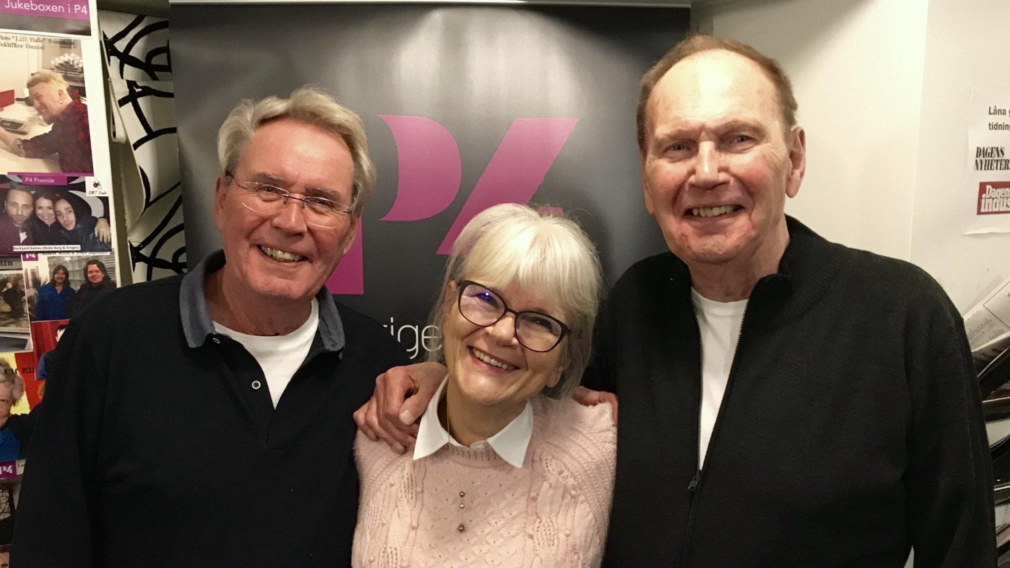 Sten Nilsson, Monica Forsberg och Ebbe Nilsson.