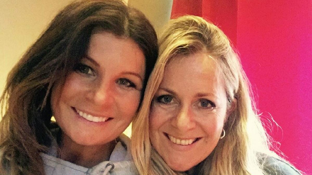 Carola Häggkvist och Gunilla Backman i Jukeboxen i P4