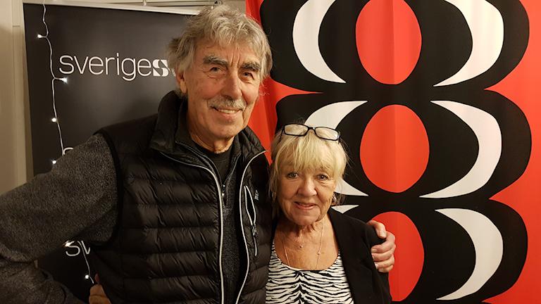 Monica Dominique gästas av Lasse Åberg