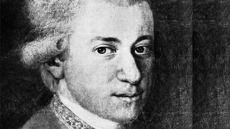 W.A. Mozart. Foto: SVT-bild.