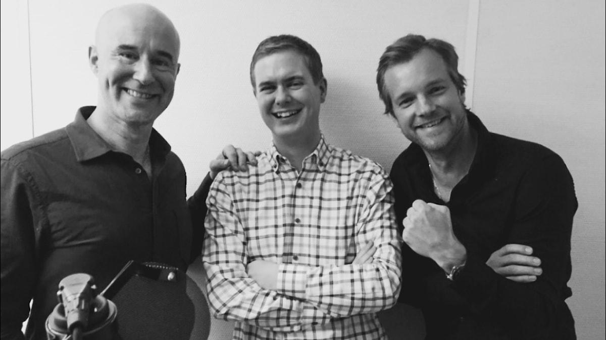 Mark Levengood, Gustav Fridolin och Henrik Johnsson. Foto: SR.