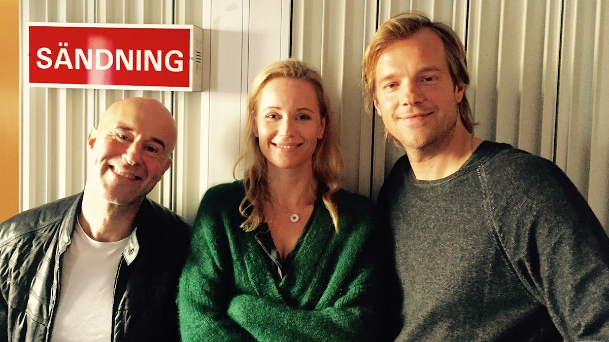 Mark Levengood, Sofia Helin och Henrik Johnsson. Foto: SR.