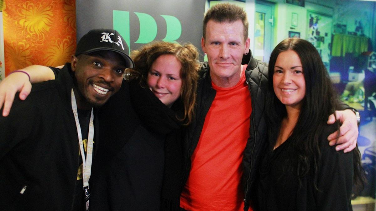 Kodjo, Hanna, Jan Mattsson & Hanna. Foto: Paulo Saka/SR