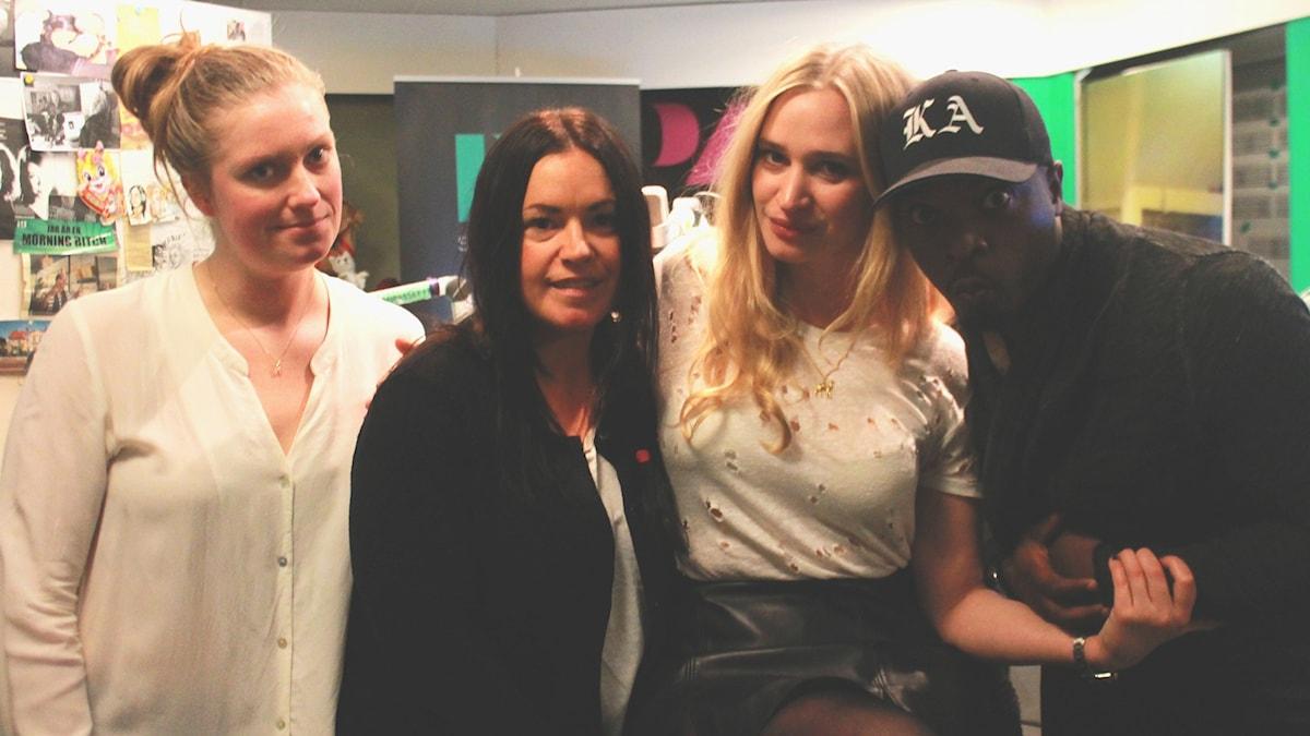 Sara, Martina, Vera Vitali & Kodjo. Foto: Paulo Saka/SR