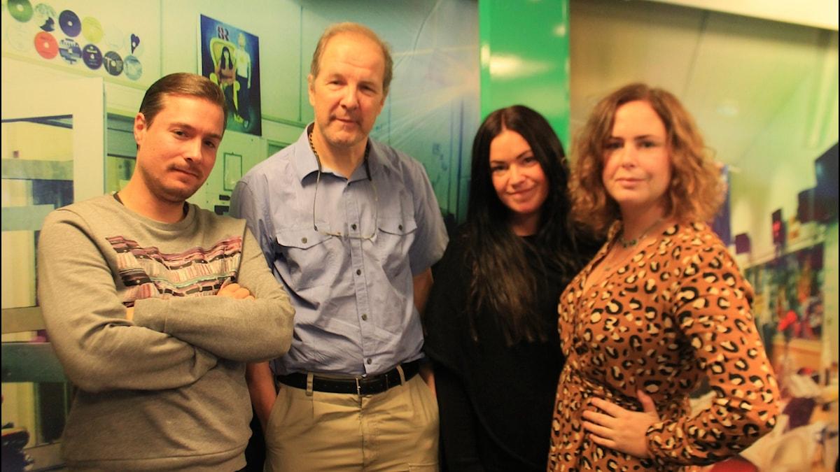 David, Michael Axelsson, Martina och Hanna