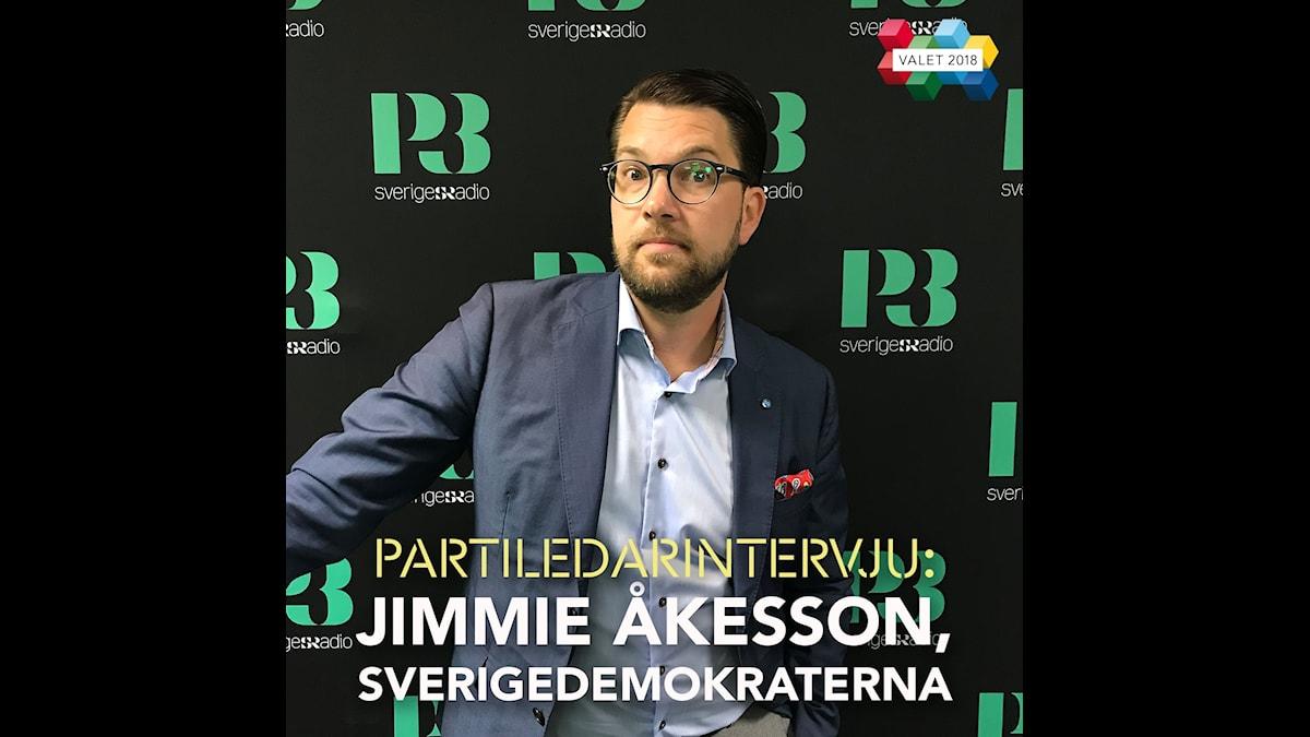 Jimmie Åkesson, partiledare för Sverigedemokraterna i Morgonpasset