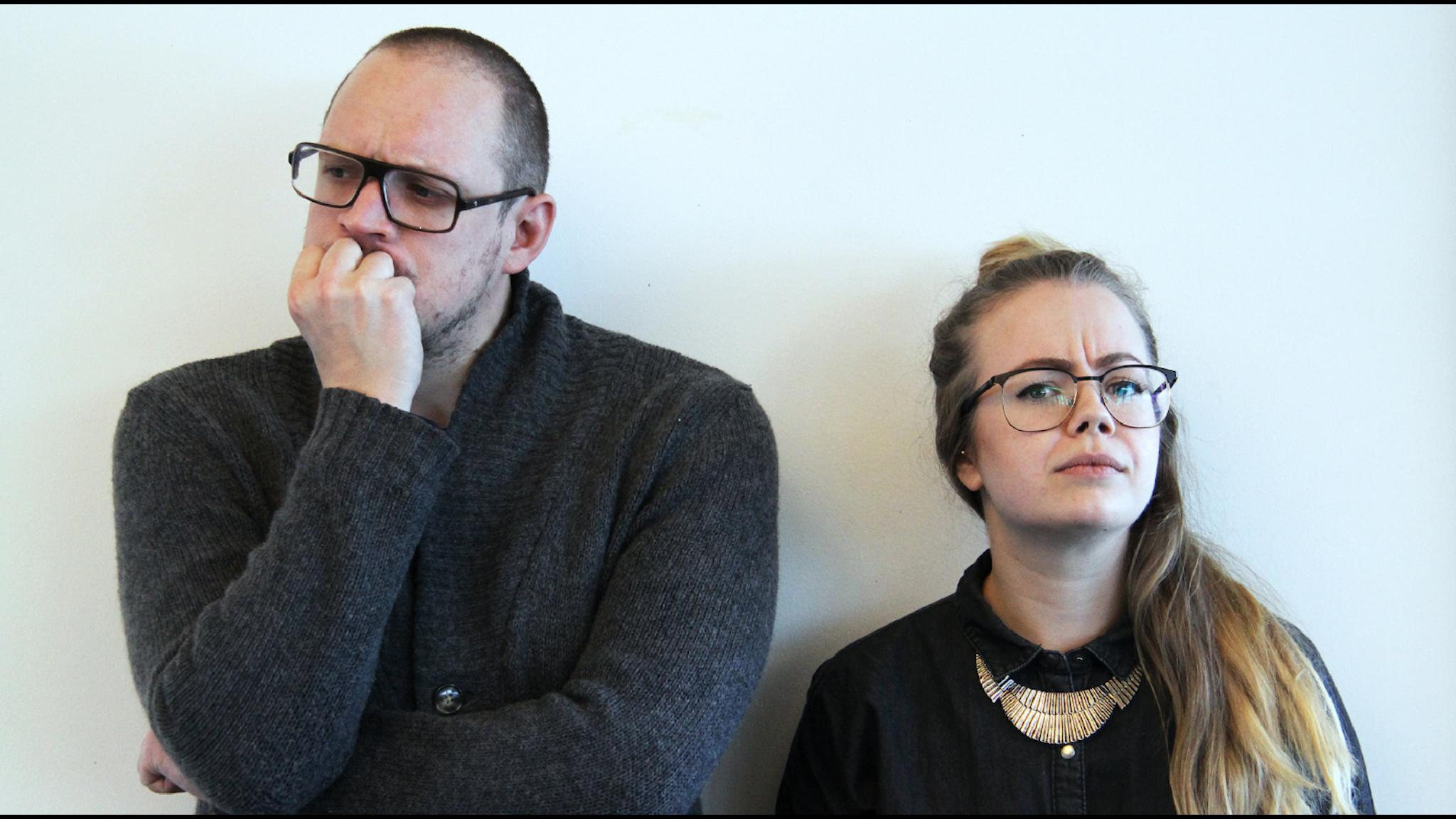 Jonatan Unge och Isabelle Forsberg