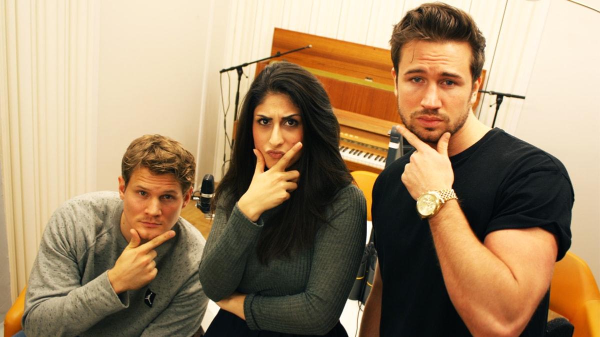 Johan, Athena och Christopher