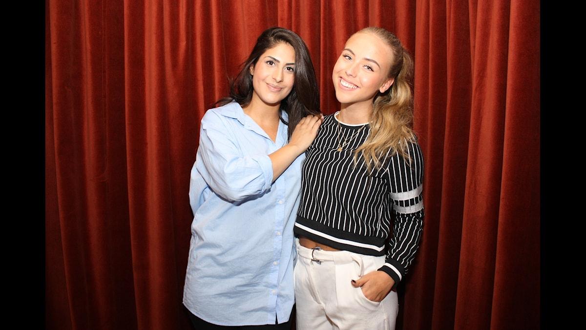 Athena Afshari och Lisa Tellbe Foto: Lena Resborn / SR