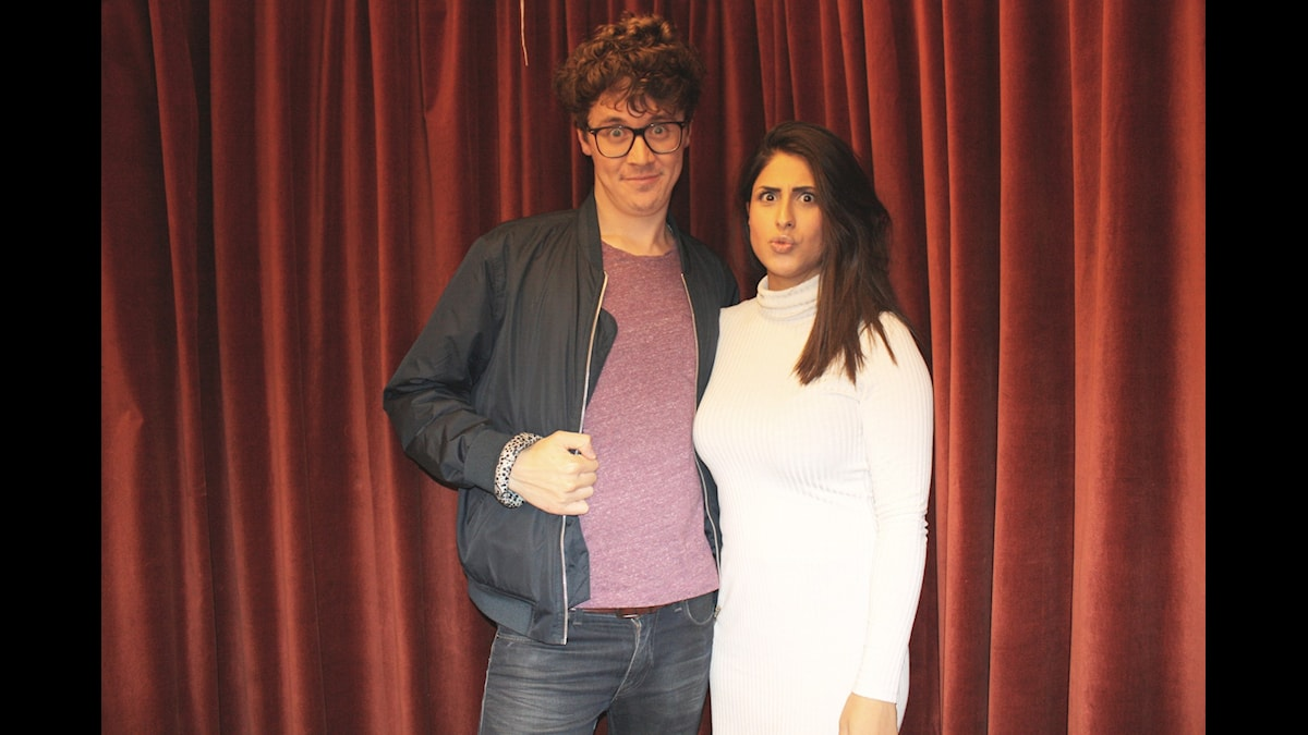Jonas Ring och Athena Afshari Foto: Lena Resborn / sverigesradio.se
