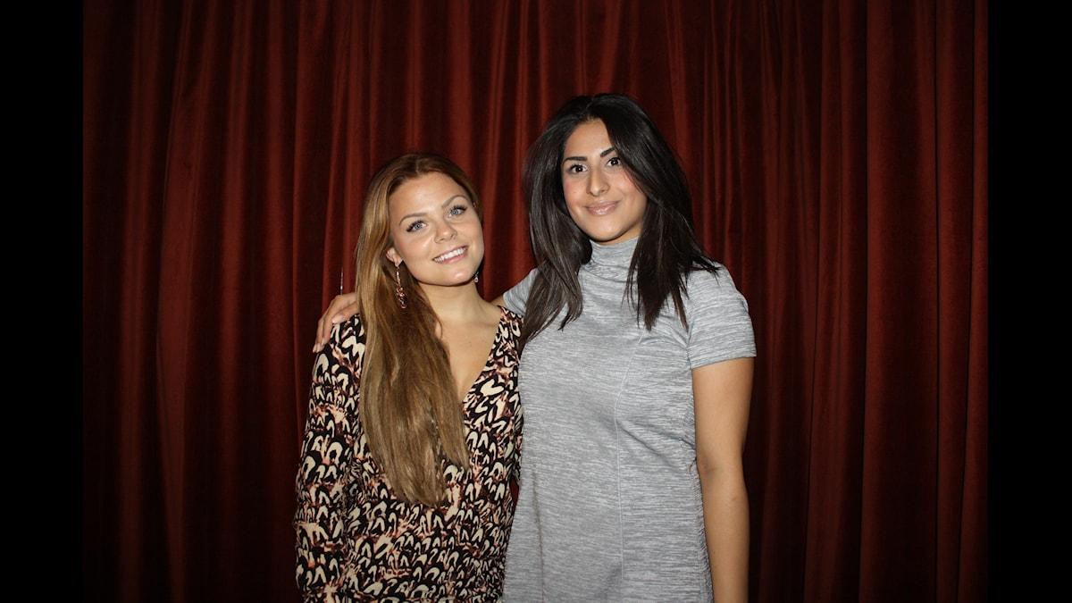Sarah Tjulander och Athena Afshari Foto: Lena Resborn / sverigesradio.se