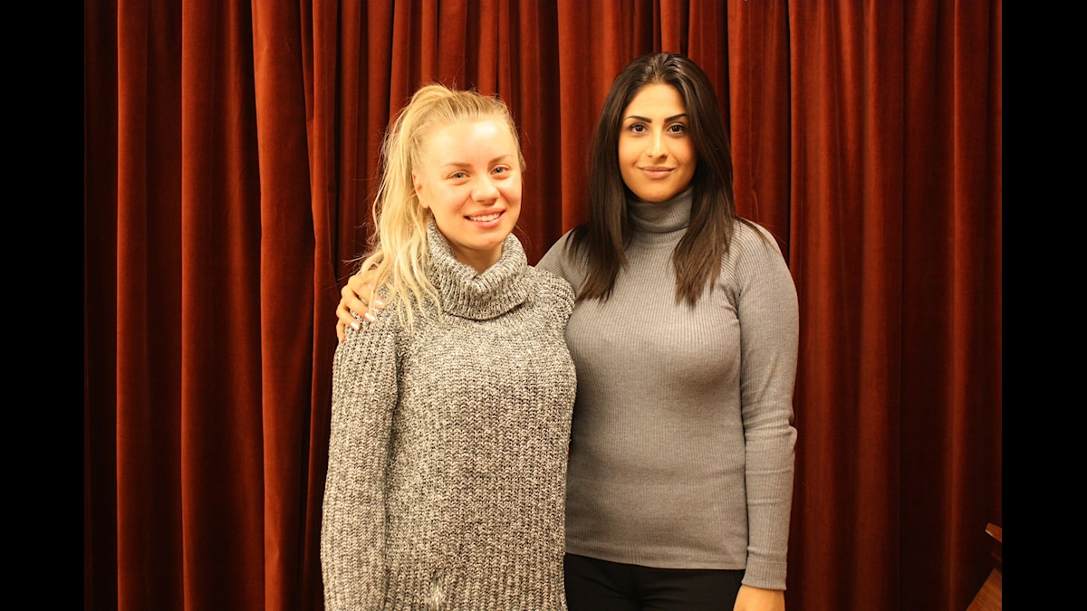 Therese Lindgren och Athena Afshari Foto: Lena Resborn / sverigesradio.se