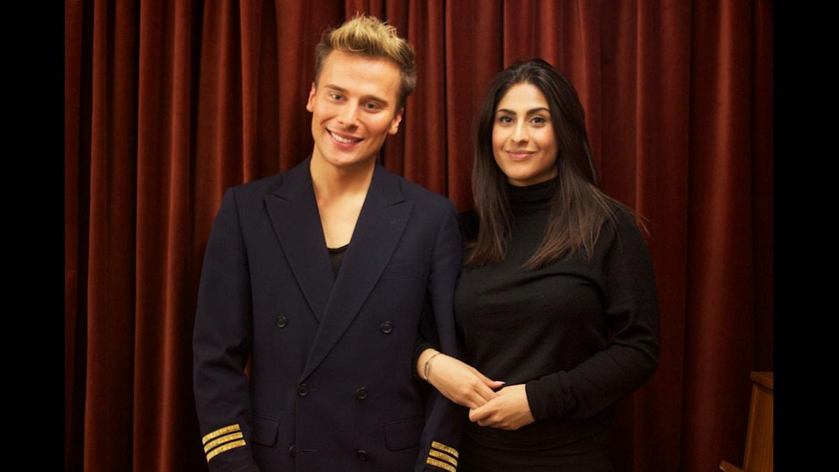 Dennis Maglic och Athena Afshari Foto: Lena Resborn  / sverigesradio.se