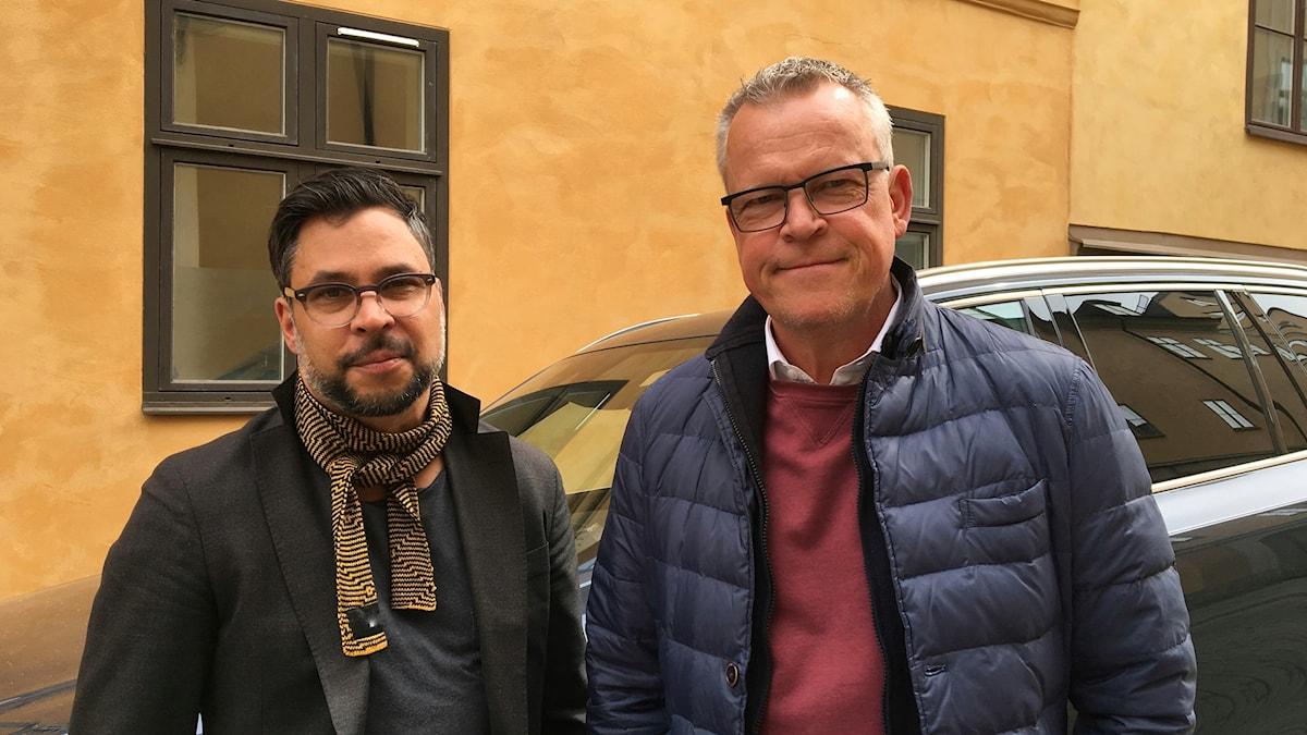 Janne Andersson (t h) och Martin Wicklin (t v)