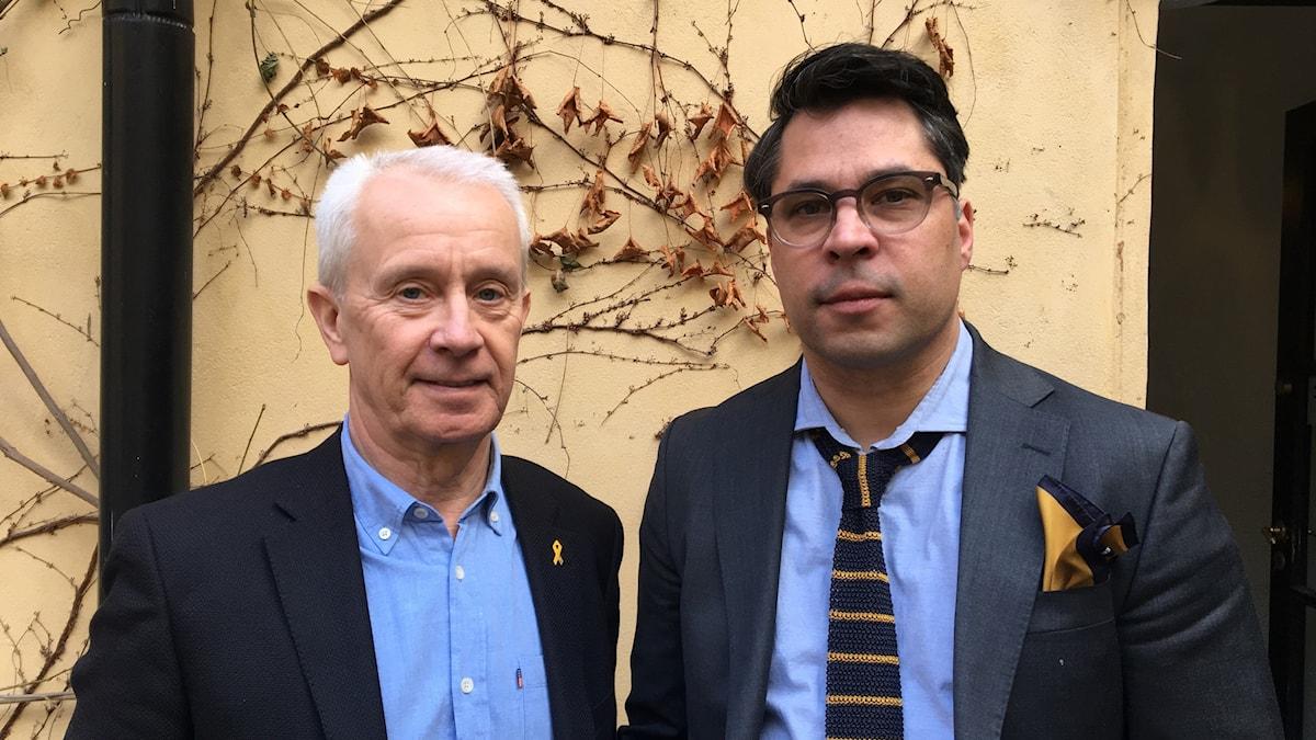 Sverker Göranson (t v) och Martin Wicklin (t h)