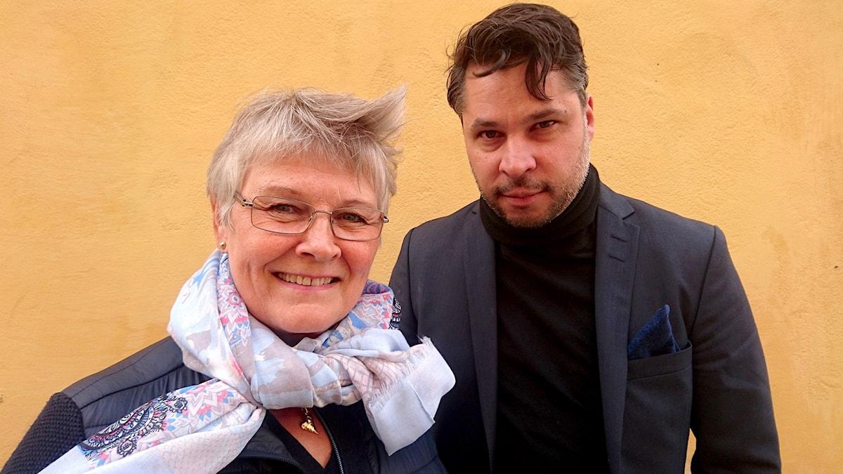 Maud Olofsson och Martin Wicklin