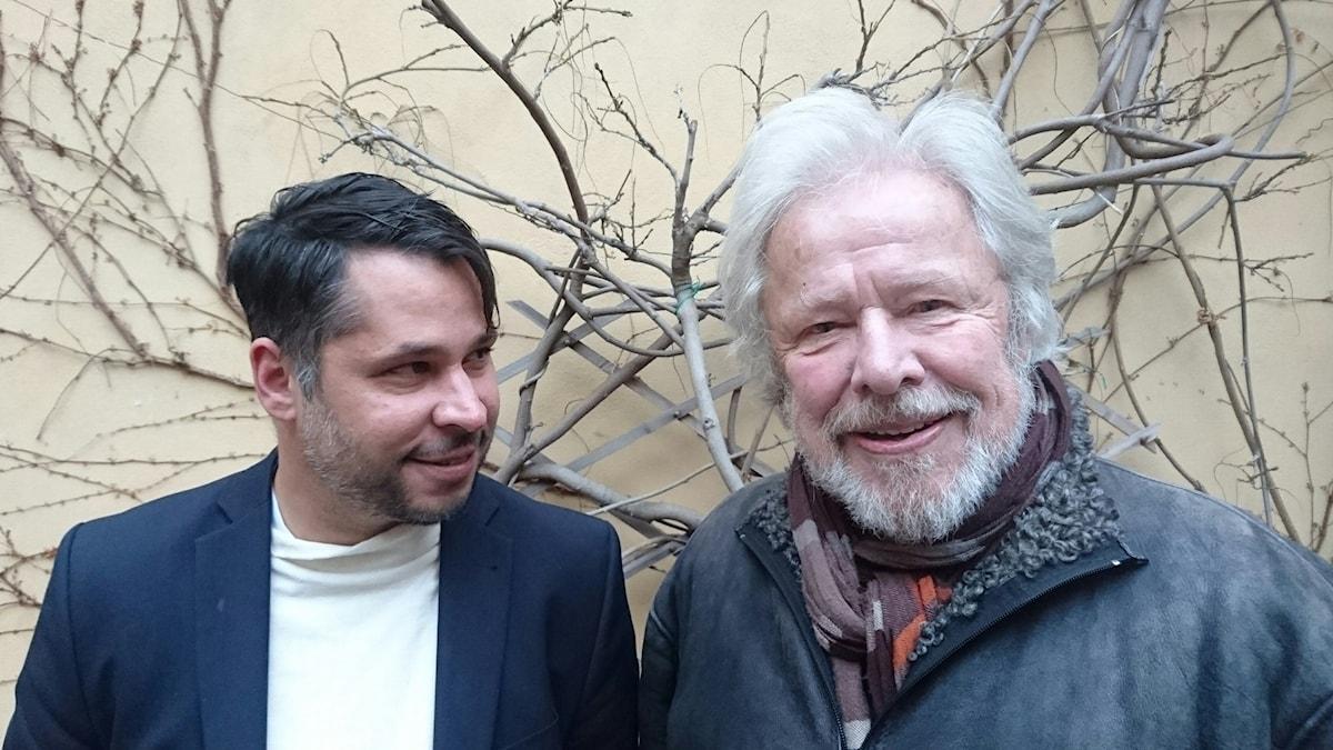Sven Wollter (t h) och Martin Wicklin (t v)