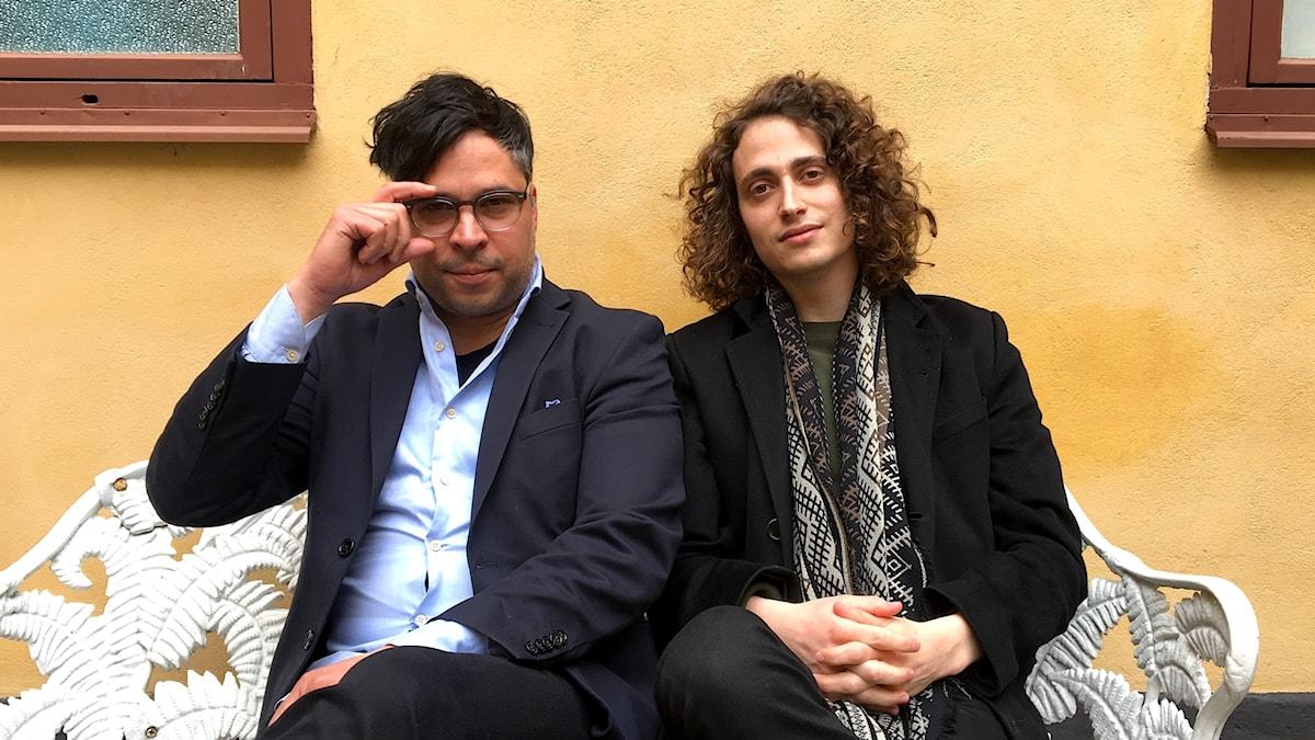 Jacob Mühlrad (t h) och Martin Wicklin (t v)