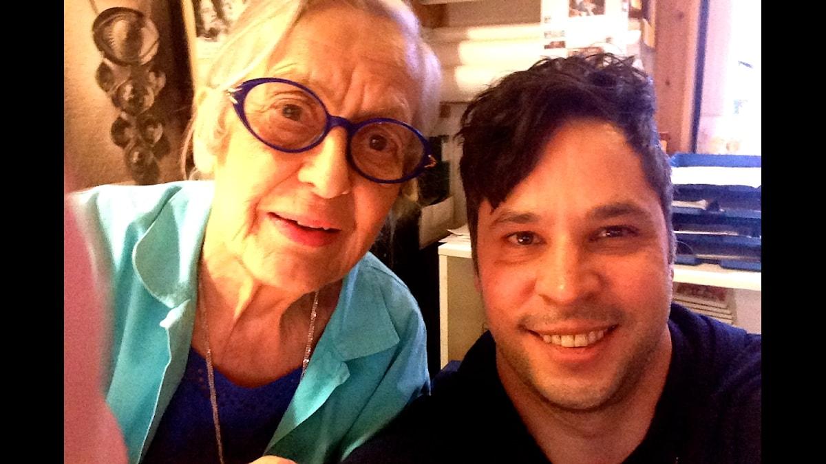Rosa Taikon och Martin Wicklin. Foto:Martin Wicklin