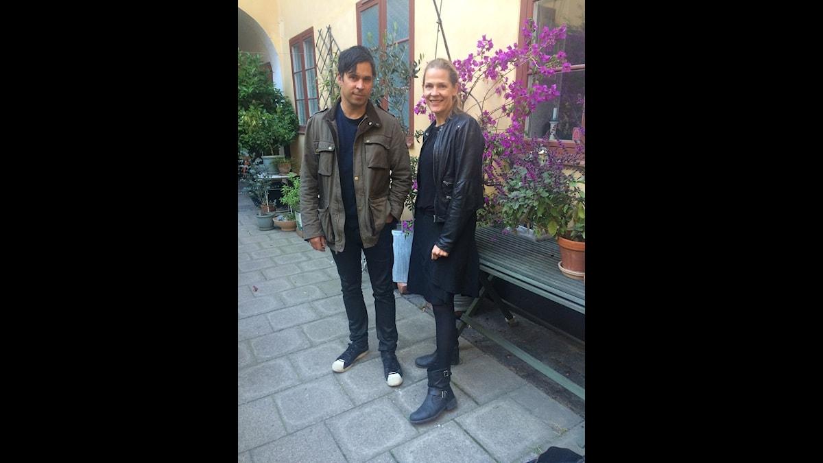 Åsne Seierstad och Martin Wicklin. Foto: Marie-Caroline Biver.