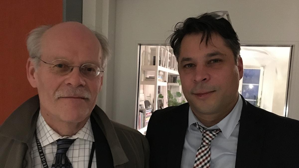 Stefan Ingves (t v) och Martin Wicklin (t h)