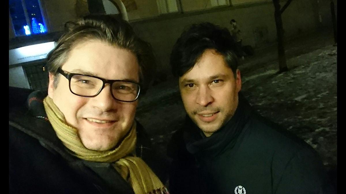 Jan Helin (t v) och Martin Wicklin (t h)