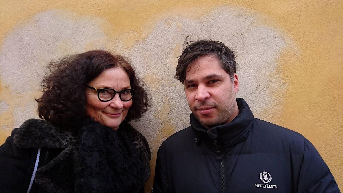 Ebba Witt-Brattström och Martin Wicklin