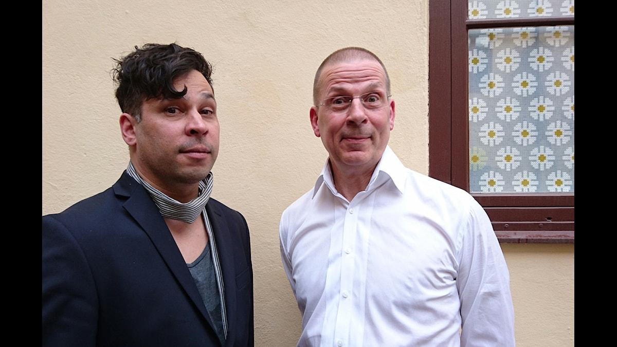 Benny Fredriksson (t h) och Martin Wicklin (t v)