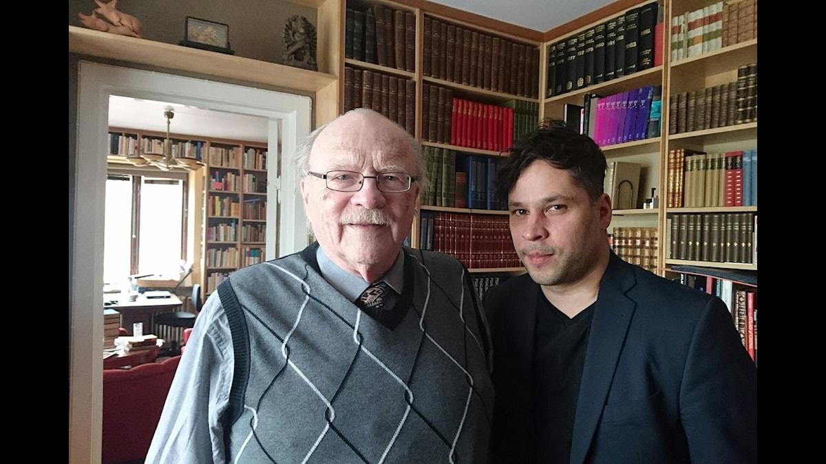 Jan Myrdal (t v) och Martin Wicklin (t h)