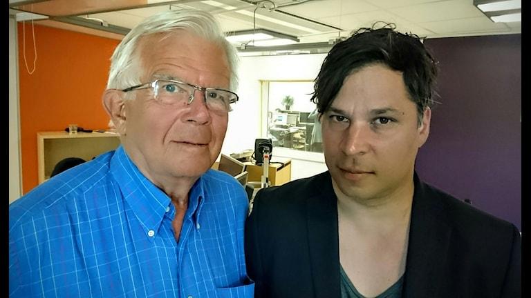 Alf Svensson (t v) och Martin Wicklin (t h).
