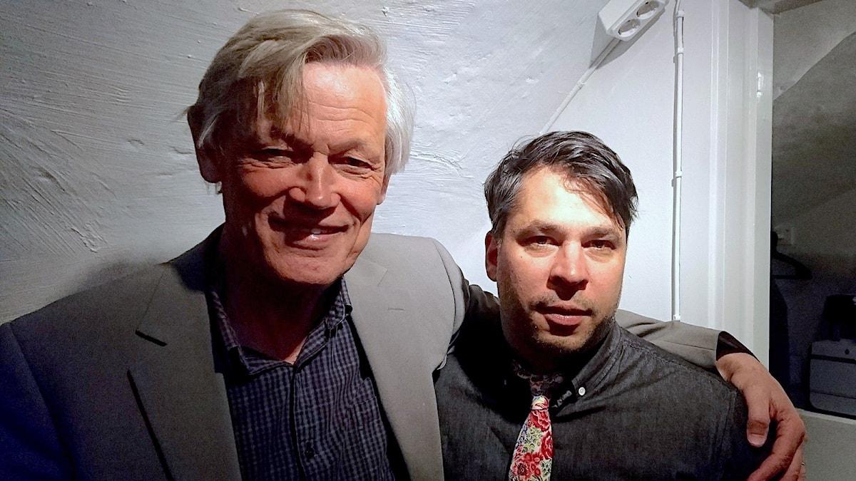 Göran Lambertz (t v) och Martin Wicklin (t h)