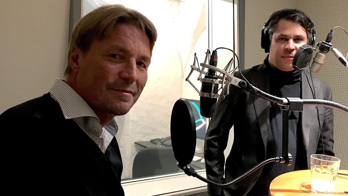 Thomas Bodström (t v) och Martin Wicklin (t h)