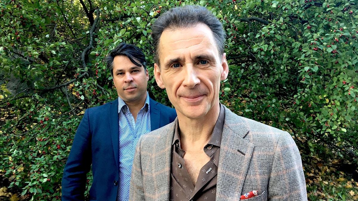 David Lagercrantz (t h) och Martin Wicklin (t v)
