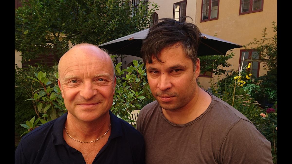 Jonas Gardell (t v) och Martin Wicklin (t h)