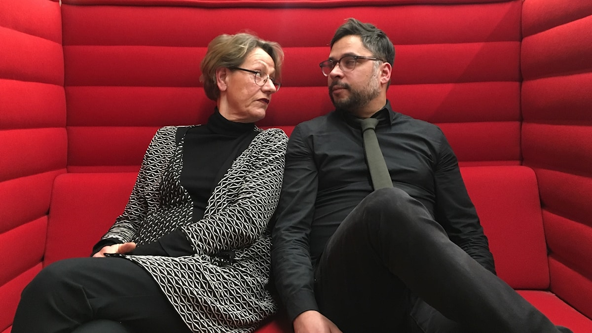 Gudrun Schyman och Martin Wicklin
