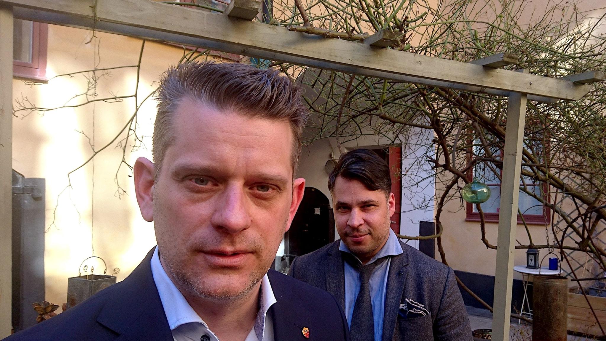 Marcus Birro (t v) och Martin Wicklin (t h)