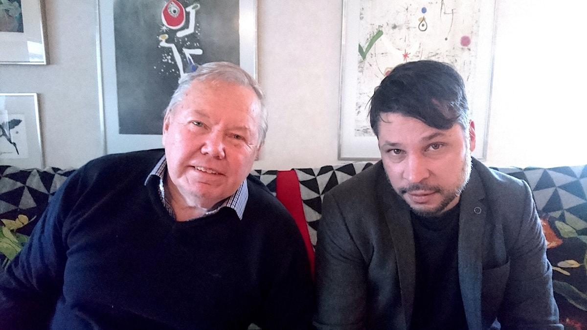 Bert Karlsson (t v) och Martin Wicklin (t h)