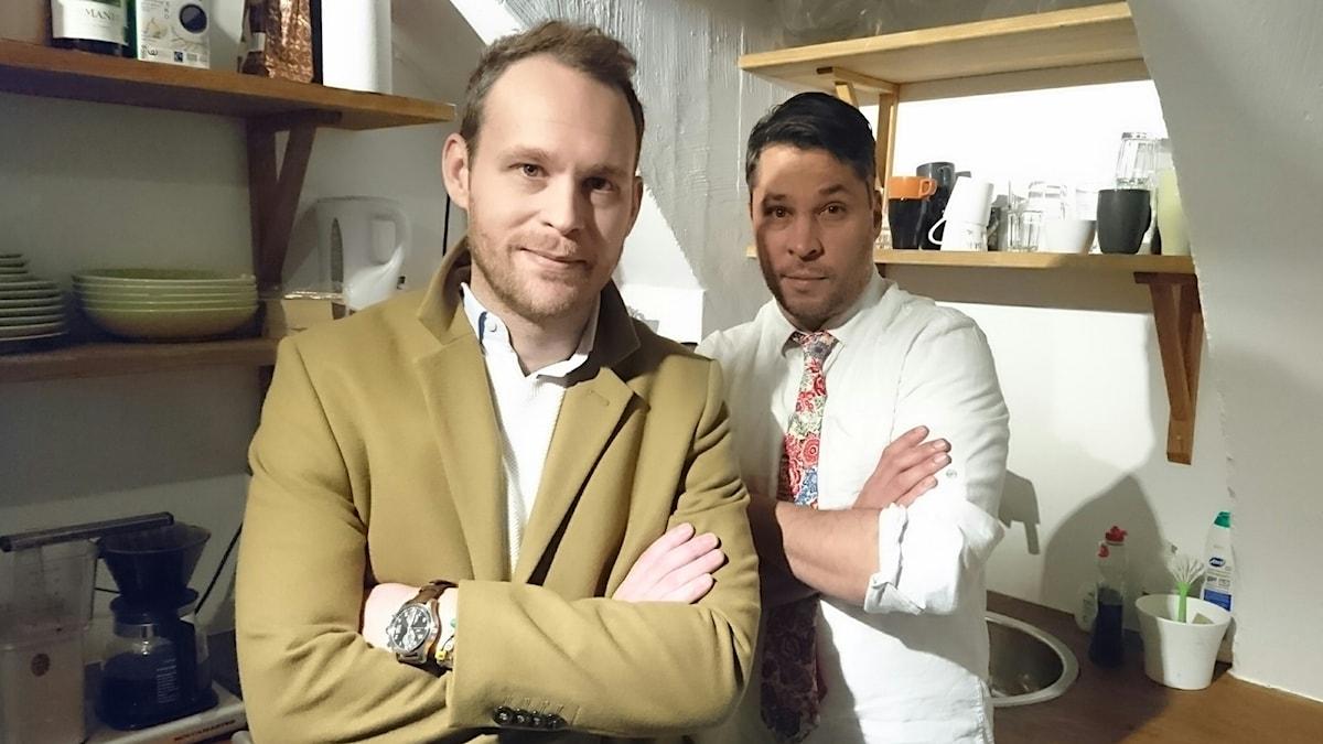 Björn Frantzén (t v) och Martin Wicklin (t h)