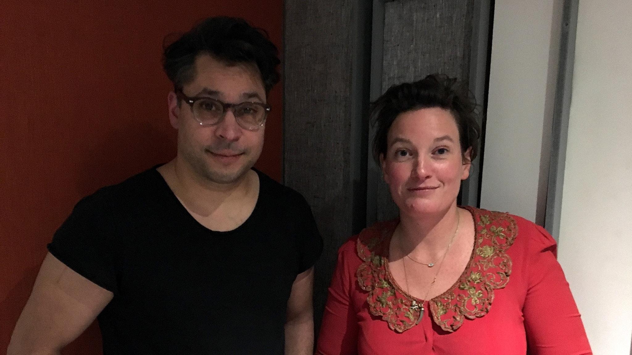 Agnes Lidbeck och Martin Wicklin