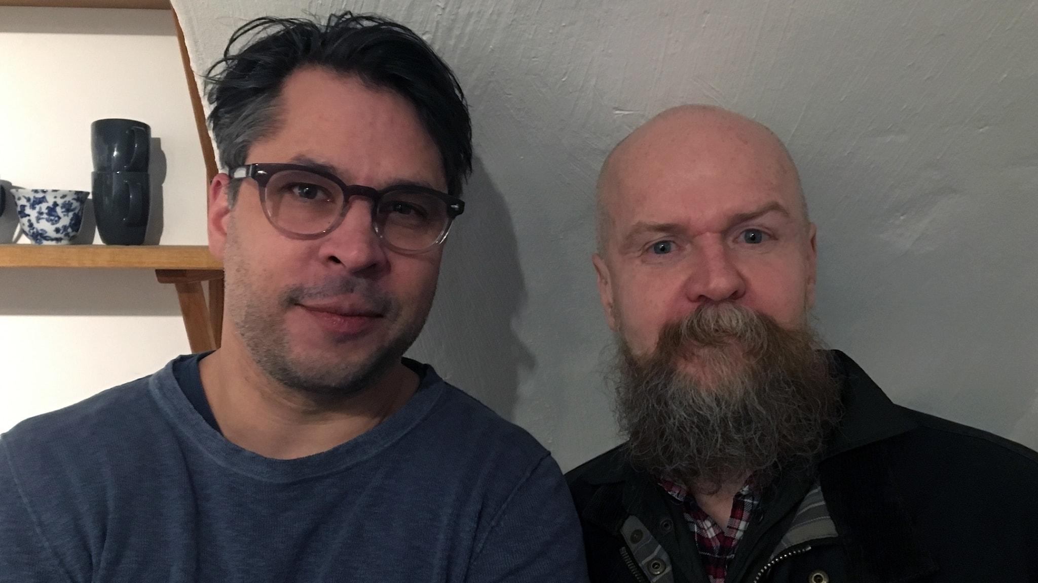 Martin Wicklin (t v) och Alexander Bard (t h)