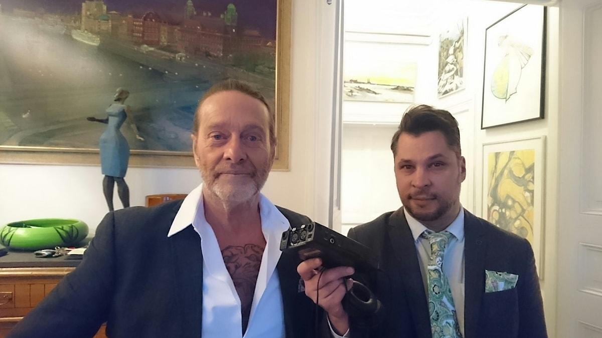 Björn Ranelid (t v) och Martin Wicklin (t h)