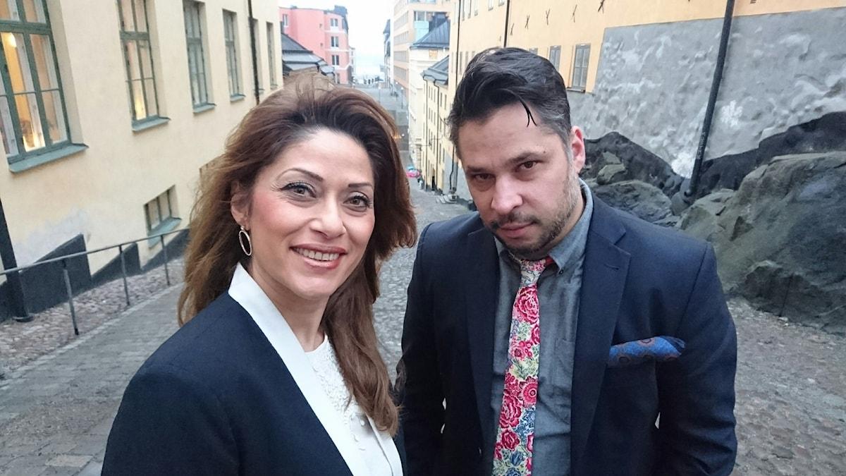 Azita Shariati och Martin Wicklin